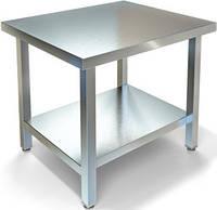 Кондитерский кухонный стол без борта с полкой, фото 1