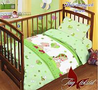 """Детский комплект постельного белья в кроватку с компаньоном """"Мой ангелочек"""""""