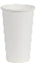 Бумажный стаканчик 330мл, белый, без принта, 50 шт/упак (25уп/ящ)