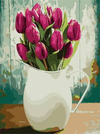 """AS0240 Раскраска по номерам """"Букет тюльпанов"""", фото 2"""
