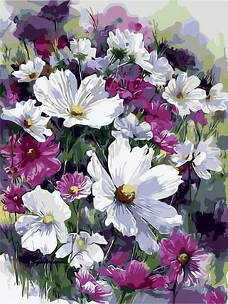 """AS0241 Раскраска по номерам """"Лиловые цветы"""", фото 2"""