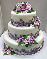 """Свадебный торт на заказ """"Цветочный ажур"""""""