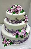 """Свадебный торт на заказ """"Цветочный ажур"""", фото 2"""
