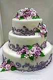 """Свадебный торт на заказ """"Цветочный ажур"""", фото 3"""