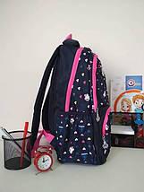 Рюкзак для девочки 1-4 класс с принтом сердечки 40*25*17 см, фото 3