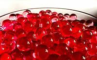 Гидрогель, шарики гелиевые, 250шт, диаметр 1см, цвет Красный