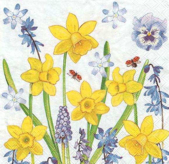 Салфетка для декупажа Весенние цветы 7672