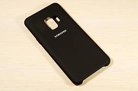 Оригинальный силиконовый чехол для Samsung Galaxy S9 Plus G965F 2018 Silicone Cover (Черный)
