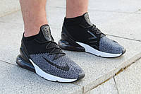 "Кроссовки мужские Nike Air Max 270 Flyknit ""Oreo"" / AO1023-001 (Реплика)"
