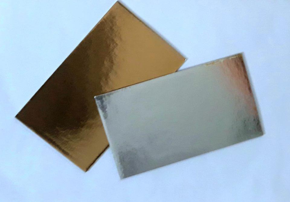 Подложка  прямоугольная Золото\серебро 10х5 cm Украина-05920