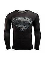 Термокофта для Фитнеса и Тренеровок Superman Черная