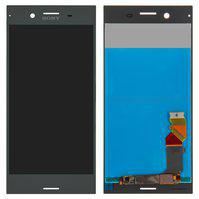 Дисплей (экран) для Sony F8342 Xperia XZ1 Dual с сенсором (тачскрином) черный Оригинал