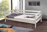 Односпальная кровать SKY-3 (ольха) беленый дуб Микс мебель
