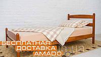Односпальная кровать Ликерия (бук) с изножьем 200х80 Микс мебель