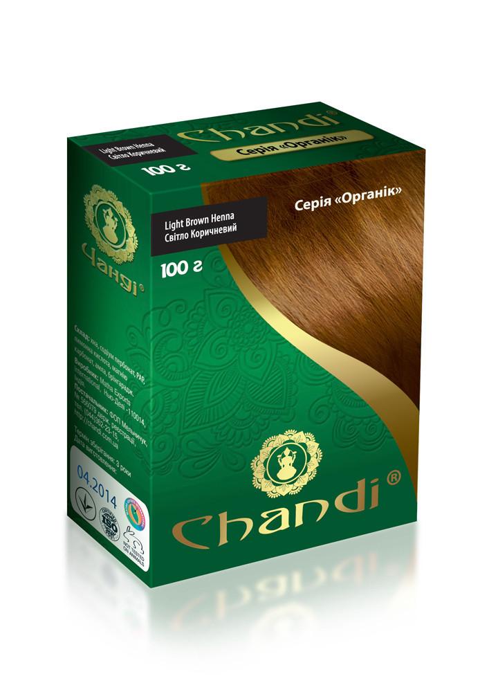 Краска для волос Chandi. Серия Органик. Светло-коричневый, миниатюра, 30г