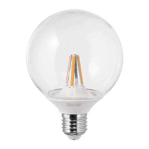 Светодиод E27 IKEA LEDARE LED 600 лм 95 мм теплый оттенок с регулировкой освещения 903.887.75
