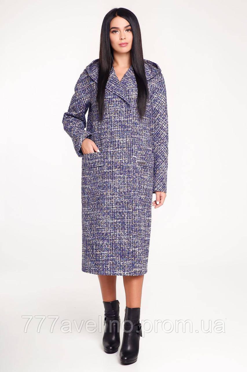 Пальто женское демисезонное с капюшоном размеры 44, 46, 48, 50, 52, 54