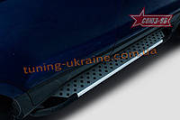 Пороги алюминиевый профиль Союз 96 на Ford EcoSport 2014