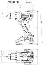 Аккумуляторный ударный шуруповерт Metabo SB 18 LT BL, фото 2