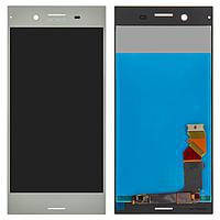 Дисплей (экран) для Sony F8342 Xperia XZ1 Dual с сенсором (тачскрином) серебристый Оригинал, фото 2