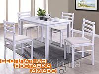 Комплект стол и стулья Фиеста (1+4) (ТК навахо) (белый) Domini, фото 1