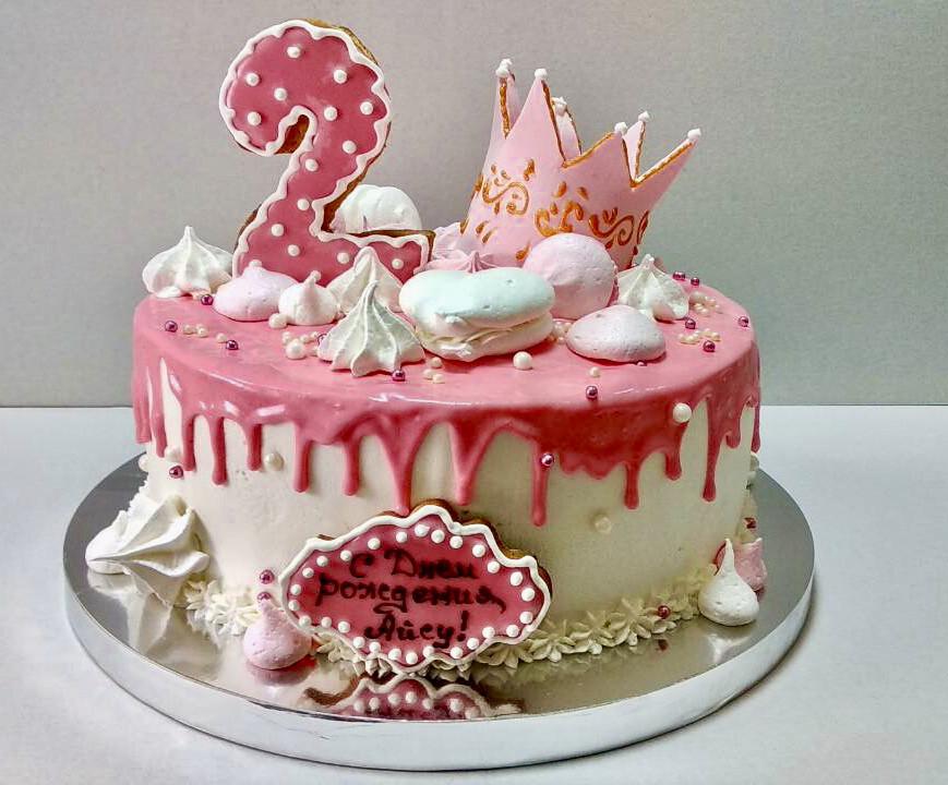 """Торт """"Принцессе 2 года"""""""