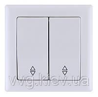 Переключатель на два направления двухклавишный серия BOLERO (белый) ВП02-02-0-ББ IEK