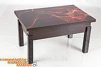 Стол-трансформер Флай со стеклом венге магия Микс мебель