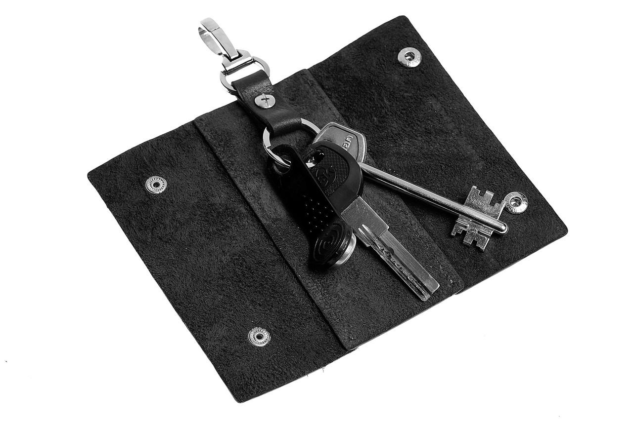Ключница на кнопках,глянец, черный