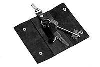 Ключница на кнопках,глянец, черный, фото 1