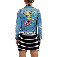Джинсовая куртка c вышитым львом Realty Jeans  (Европа)  L/40
