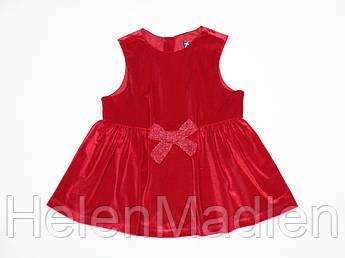 Платье велюровое для девочки Original Marines 86 см красное