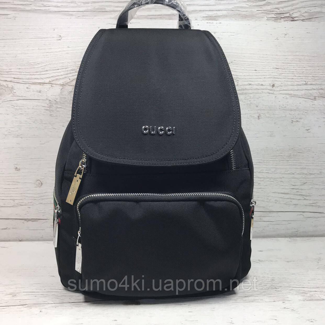 852b883e4 Женский рюкзак Gucci из плащевки - Интернет-магазин «Галерея Сумок» в Одессе
