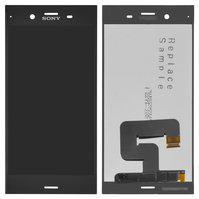 Дисплей (экран) для Sony G8341 Xperia XZ1 с сенсором (тачскрином) черный Оригинал