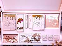 Большой косметический набор KYLIE Jenner (тени, хайлайтеры, пигменты, матовые помады) (Реплика)