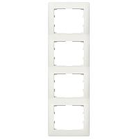 Рамка вертикальная 4 поста серия BOLERO (белый) РВ04-00-0-ББ IEK