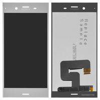 Дисплей (экран) для Sony G8341 Xperia XZ1 с сенсором (тачскрином) серебристый