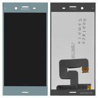 Дисплей (экран) для Sony G8341 Xperia XZ1 с сенсором (тачскрином) синий Оригинал