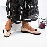 Модные туфли с большой бусиной. Цвет -пудра