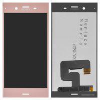 Дисплей (экран) для Sony G8341 Xperia XZ1 с сенсором (тачскрином) розовый Оригинал