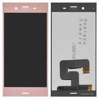 Дисплей (экран) для Sony G8341 Xperia XZ1 с сенсором (тачскрином) розовый Оригинал, фото 2