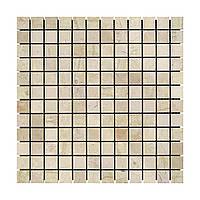 Мозаика мраморная ОТ ПРОИЗВОДИТЕЛЯ!!! полированная  МКР-2П (23х23) 6 мм Beige Mix