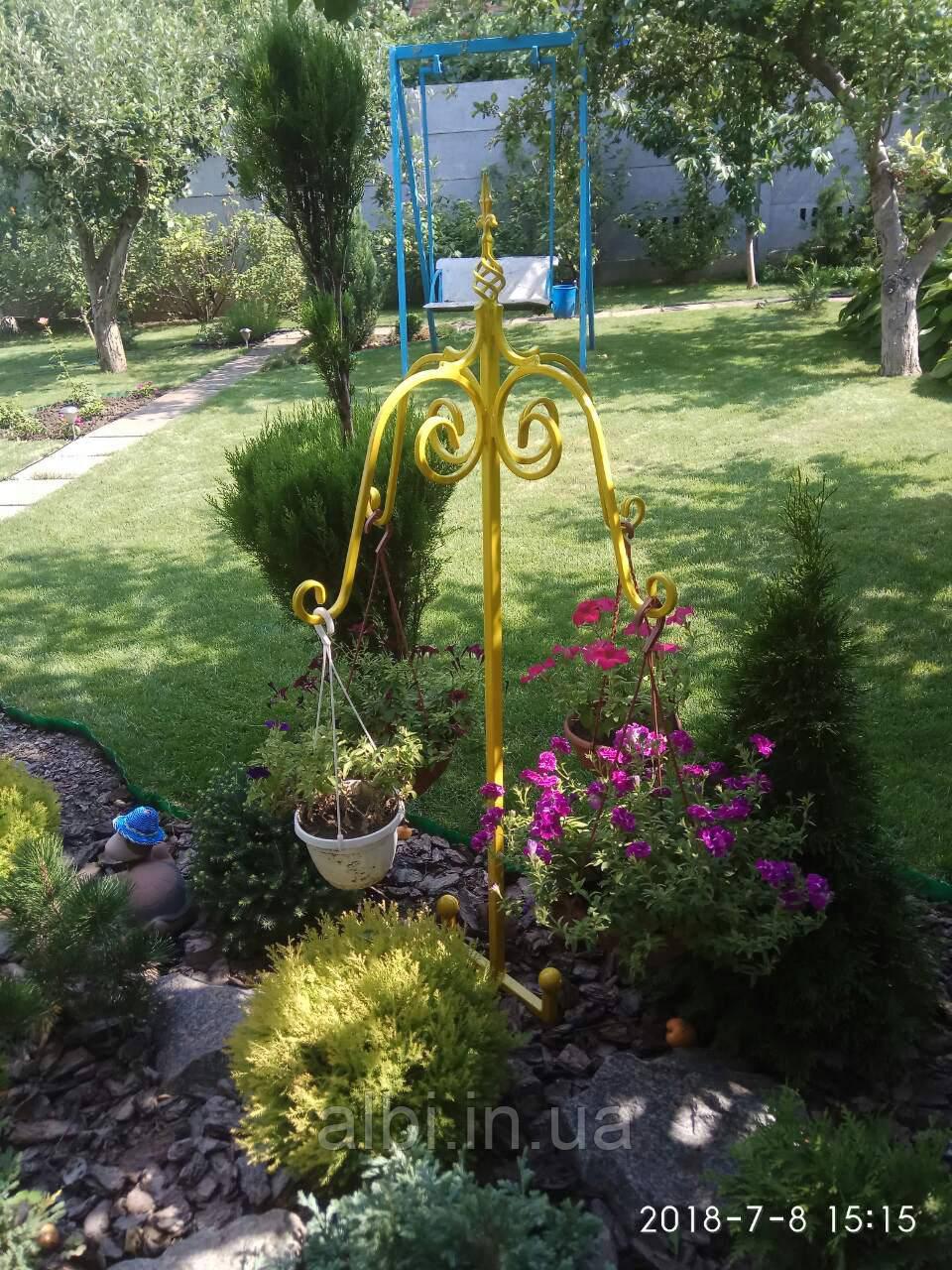 Стійка садова кашпо для декоративна СД-4