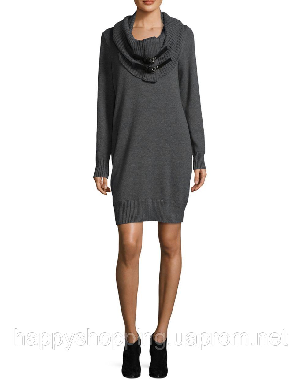 Женское серое платье со съемным воротником Michael Kors