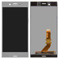 Дисплей (экран) для Sony G8231 Xperia XZs/G8232 с сенсором (тачскрином) серебристый Оригинал