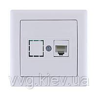 Розетка информационная RJ-45 UTP кат. 5e на 1 модуль ПРАЙМЕР РКИ-10 ... 73a8dc281e1