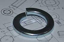 Шайба М4 пружинная оцинкованная ГОСТ 6402-70