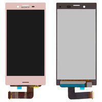 Дисплей (экран) для Sony F5321 Xperia X Compact с сенсором (тачскрином) розовый