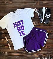 Женский стильный костюм: футболка+шорты (3 цвета), фото 1