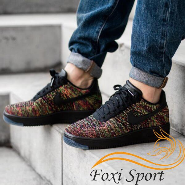 29e9493e Мужские кроссовки Nike Air Force 1 Low Flyknit (реплика) - Foxi Sport -  Магазин